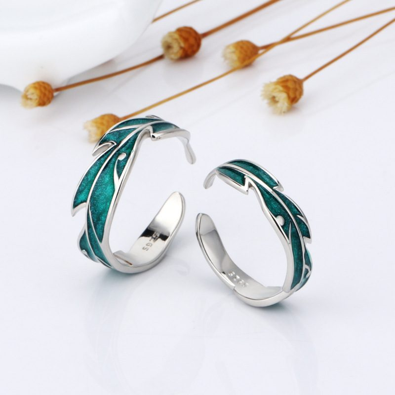 Nhẫn đôi Bạc Lá Cây LILI 666129 5