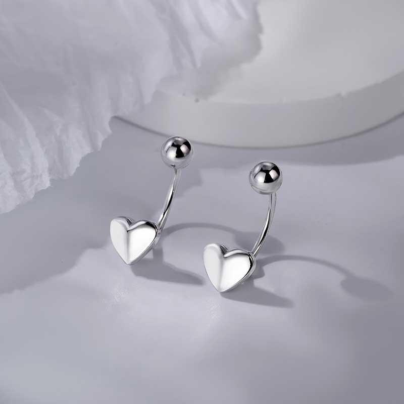 Bông tai bạc White Heart LILI_616591_1