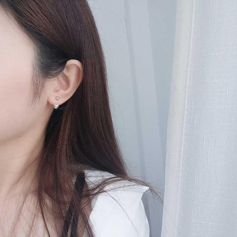 Bông tai bạc White Heart LILI_616591_2