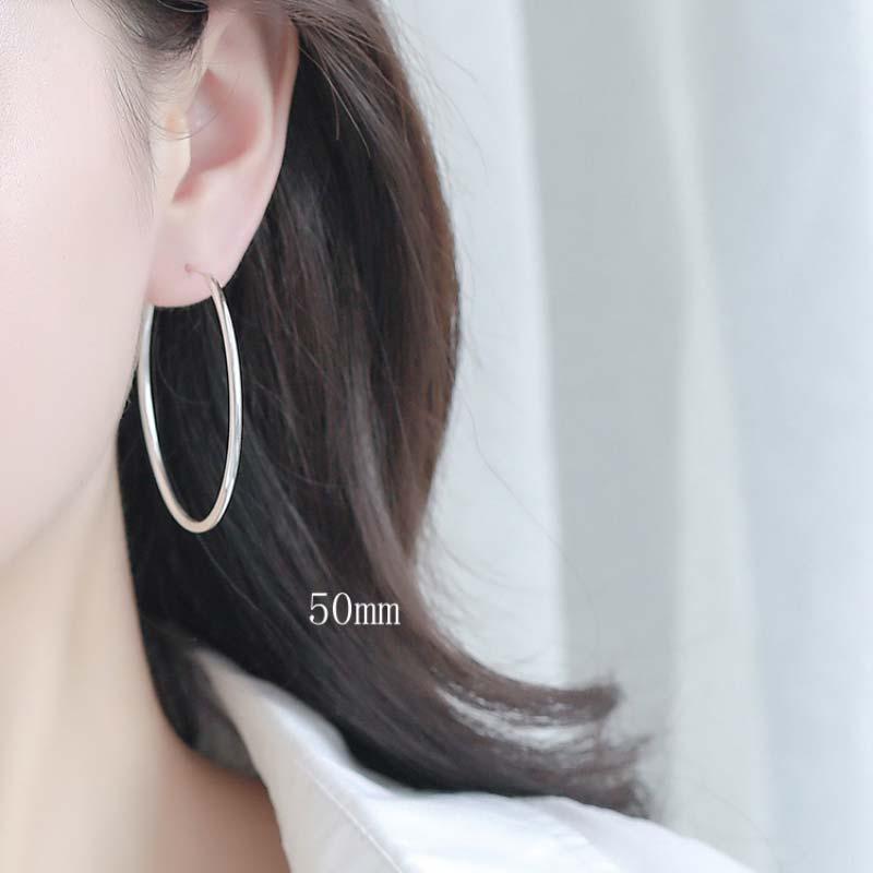 Bông Tai Bạc Tròn Adore LILI 637164 7