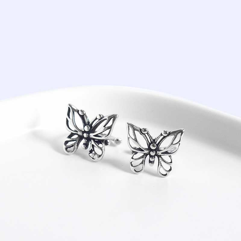 Bông tai kẹp bạc Butterfly LILI_869937_1