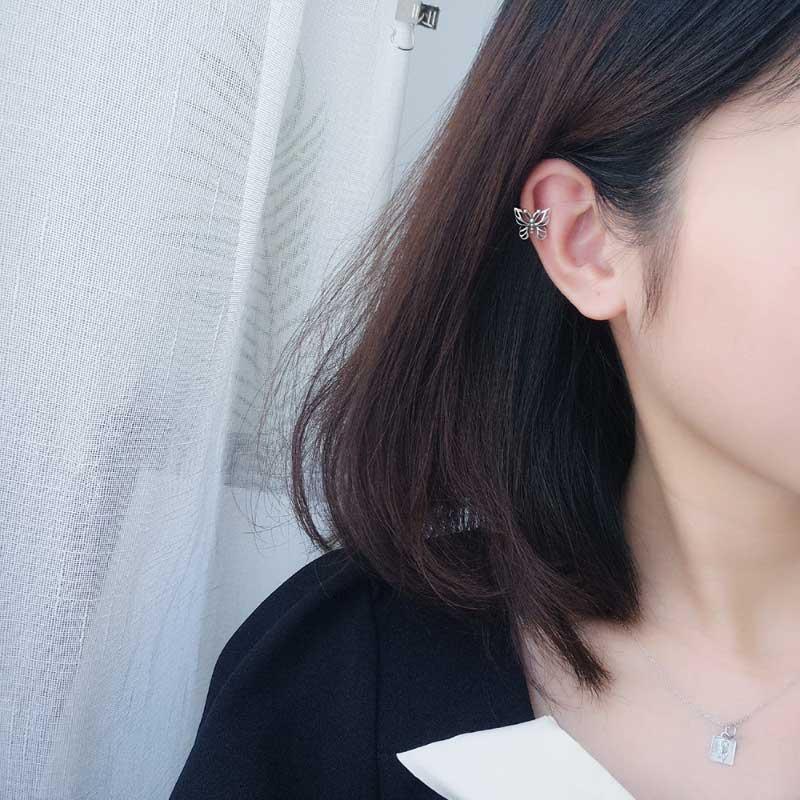 Bông tai kẹp bạc Butterfly LILI_869937_2