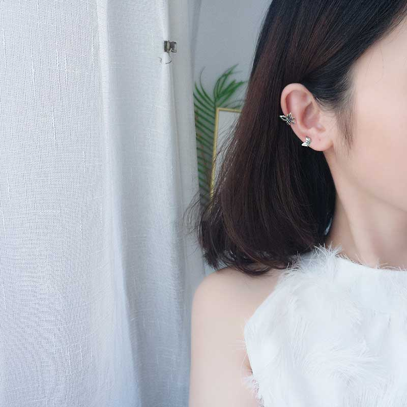 Bông tai kẹp bạc Butterfly LILI_869937_6