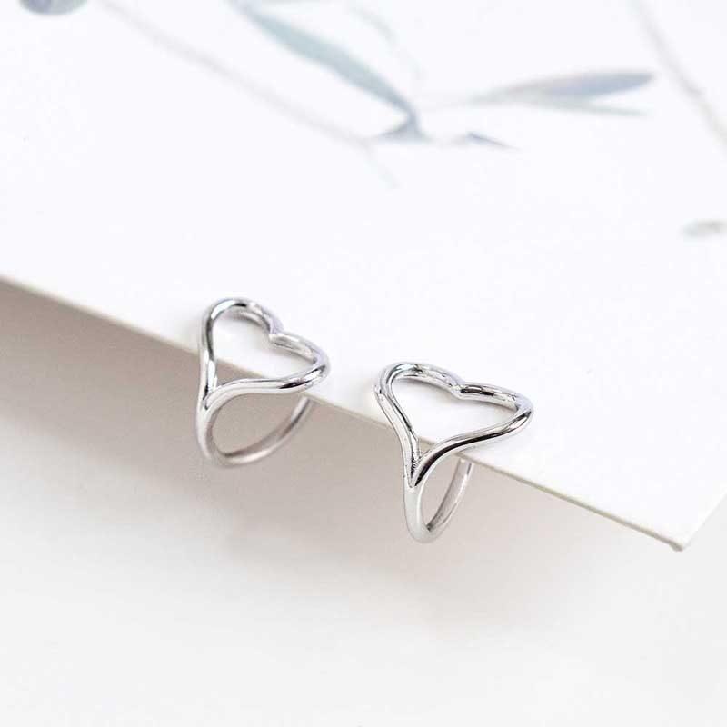 Bông tai kẹp bạc Steel Heart LILI_446813_5