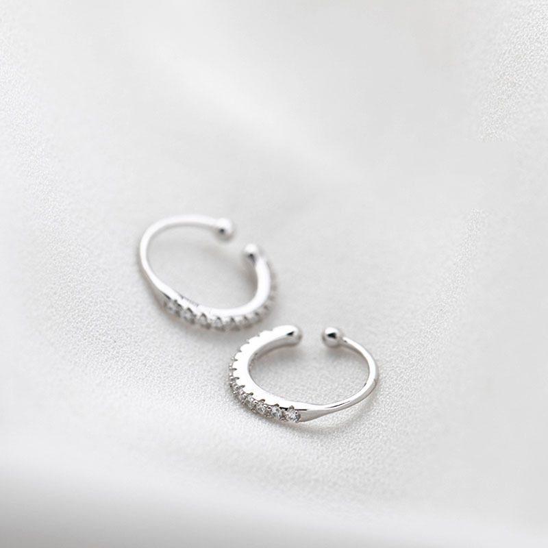 Bông Tai Kẹp Bạc đính đá Zircon LILI 875126 4