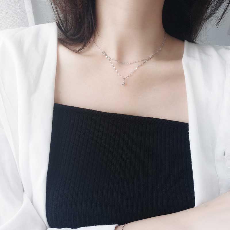 Dây chuyền bạc White Love LILI_538987_6