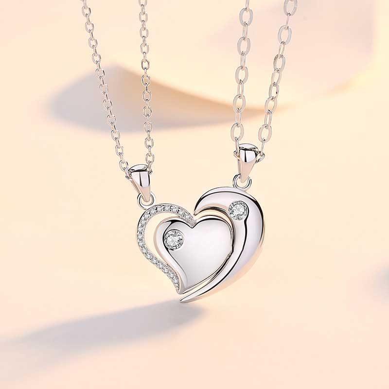 Dây chuyền đôi bạc Heart to Heart LILI_558997_1