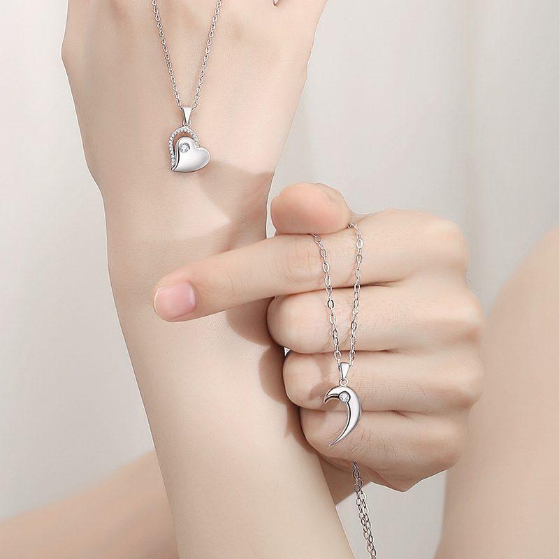 Dây chuyền đôi bạc Heart to Heart LILI_558997_4