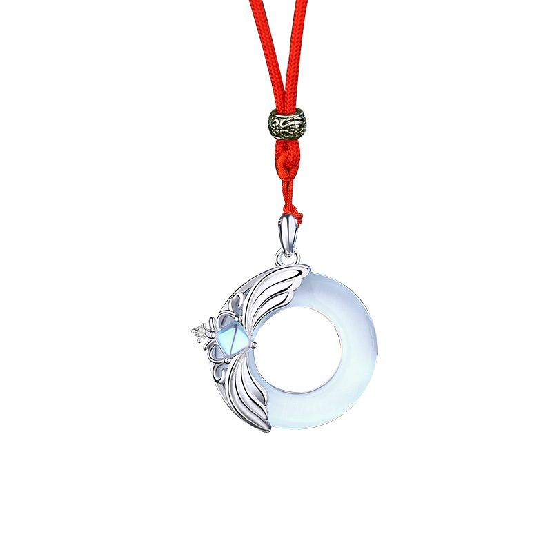 Dây Chuyền đôi Bạc đính đá Opal Obsidian Princess And Prince LILI 376749 9
