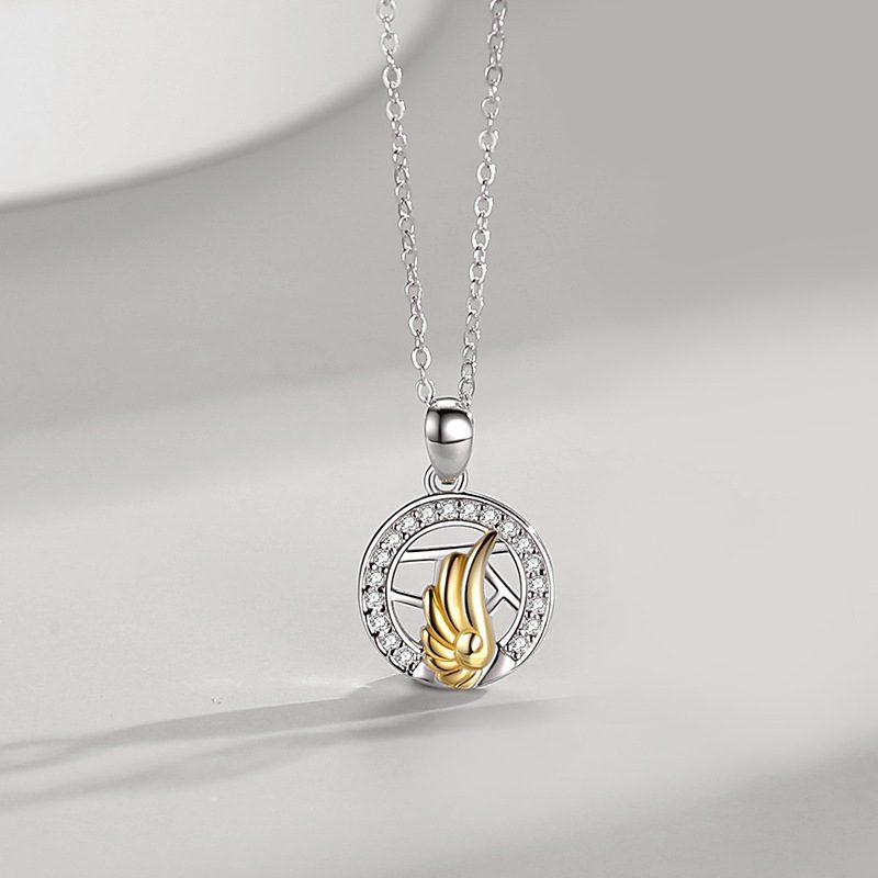 Dây chuyền đôi bạc đôi cánh thiên thần LILI_482896_4