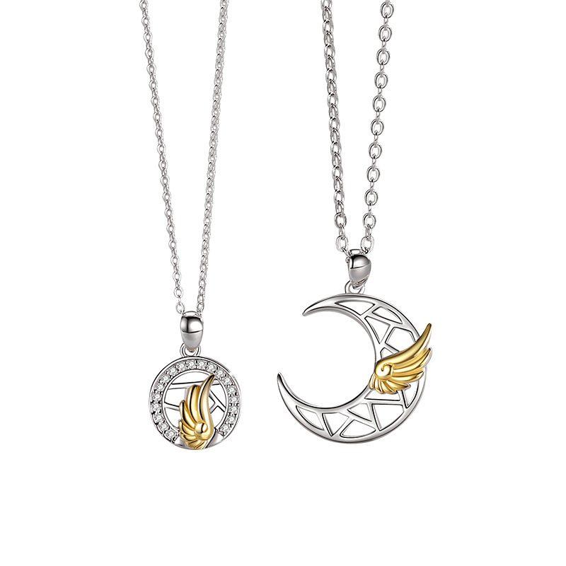Dây chuyền đôi bạc đôi cánh thiên thần LILI_482896_5