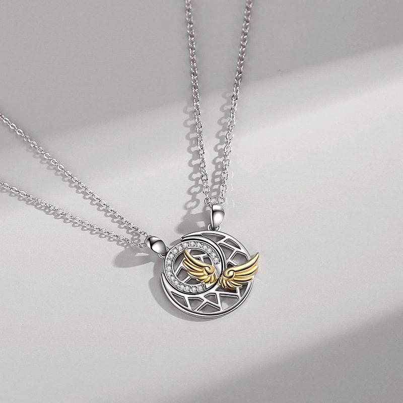 Dây chuyền đôi bạc đôi cánh thiên thần LILI_482896_6