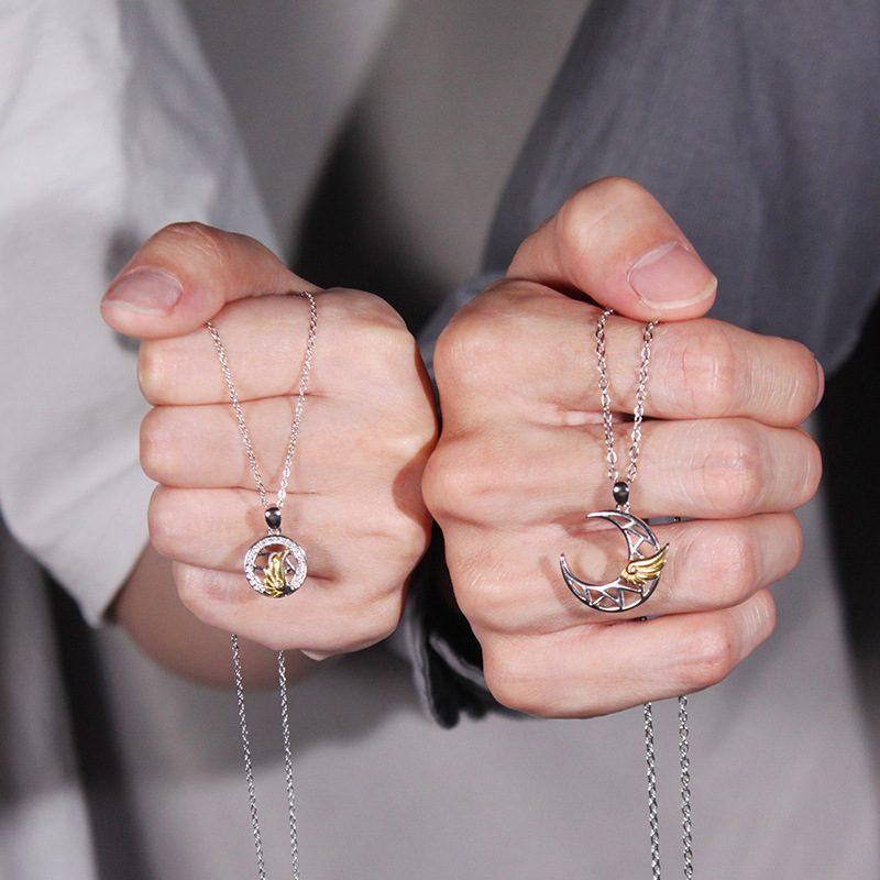Dây chuyền đôi bạc đôi cánh thiên thần LILI_482896_7