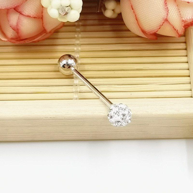 Khuyên lưỡi bạc nữ-nam đính đá Zircon 16 mm LILI_234832_3