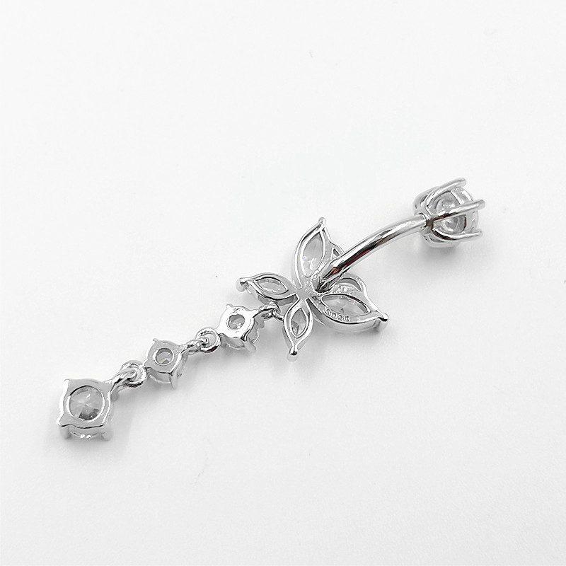 Khuyên rốn bạc nữ cánh bướm sợi dài LILI_444761_3