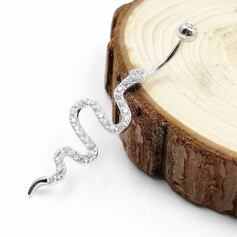 Khuyên rốn bạc nữ rắn nhỏ LILI_548585_5