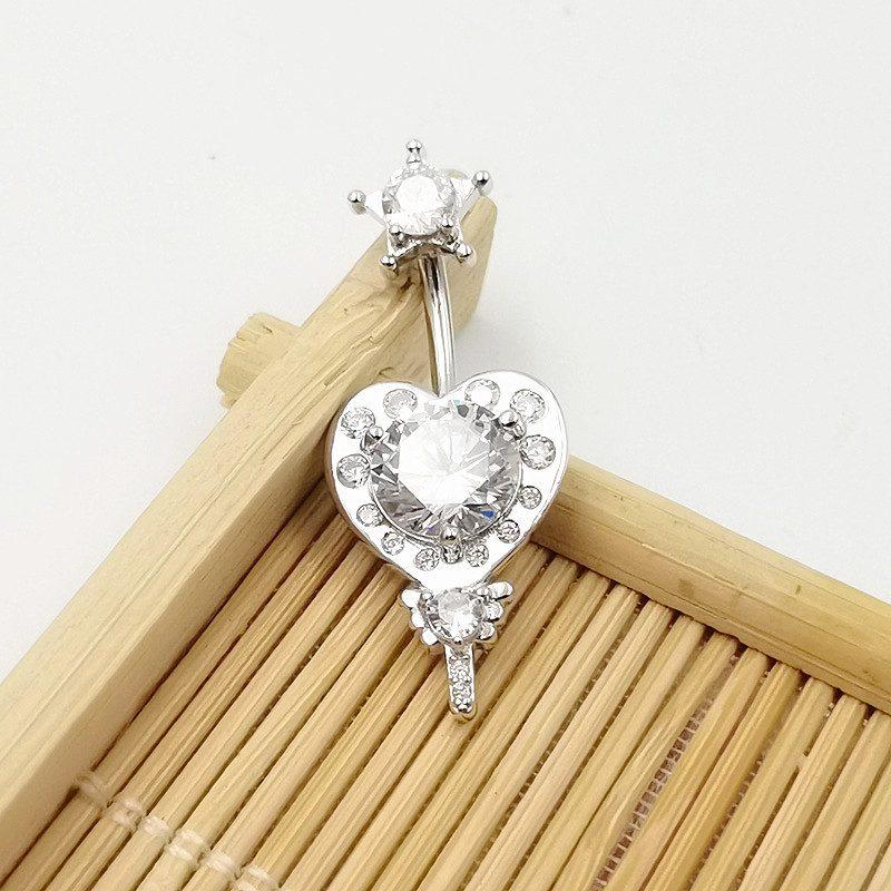 Khuyên rốn bạc nữ trái tim ngôi sao LILI_784219_2