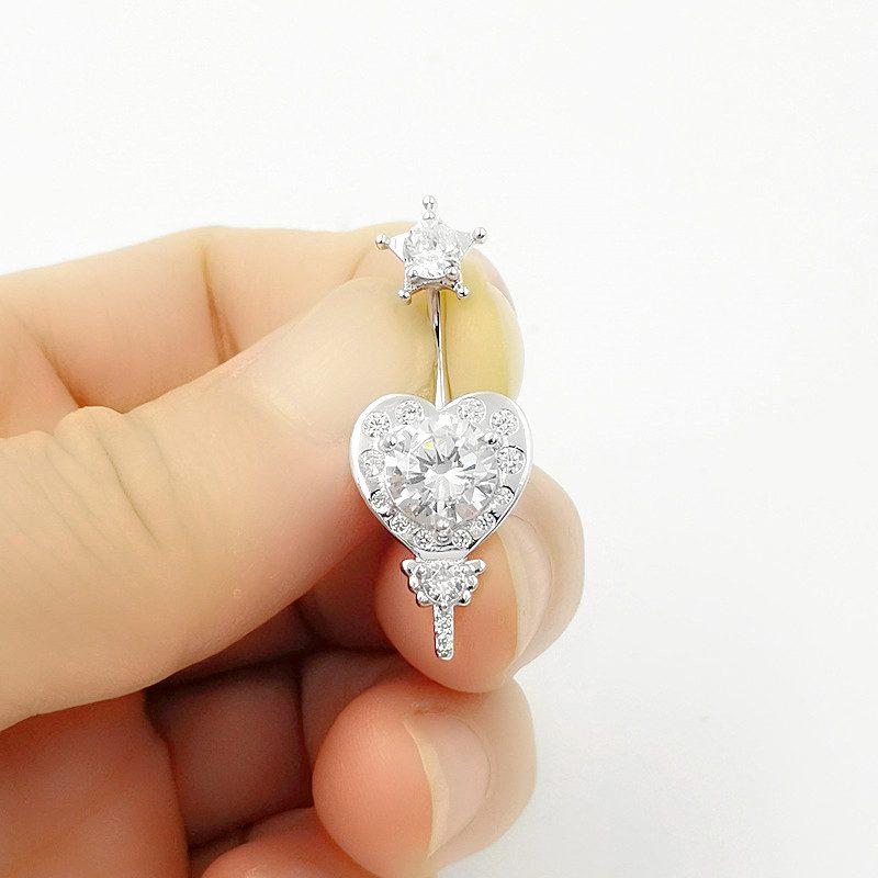 Khuyên rốn bạc nữ trái tim ngôi sao LILI_784219_3