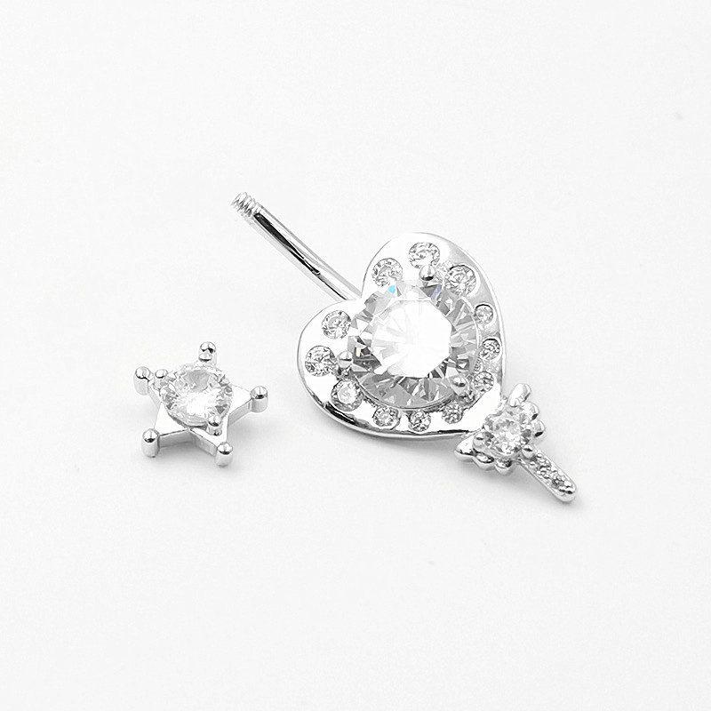 Khuyên rốn bạc nữ trái tim ngôi sao LILI_784219_4