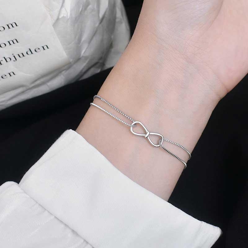 Vòng tay Lắc tay bạc hình chiếc nơ LILI_367794_1
