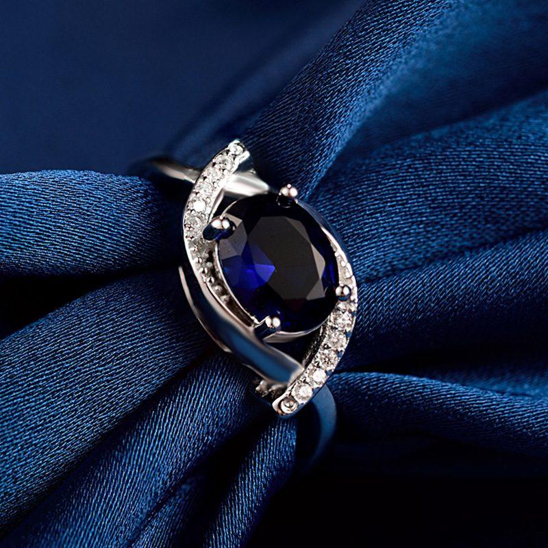 Nhẫn Bạc đính đá Zircon Blue LILI 185633 2