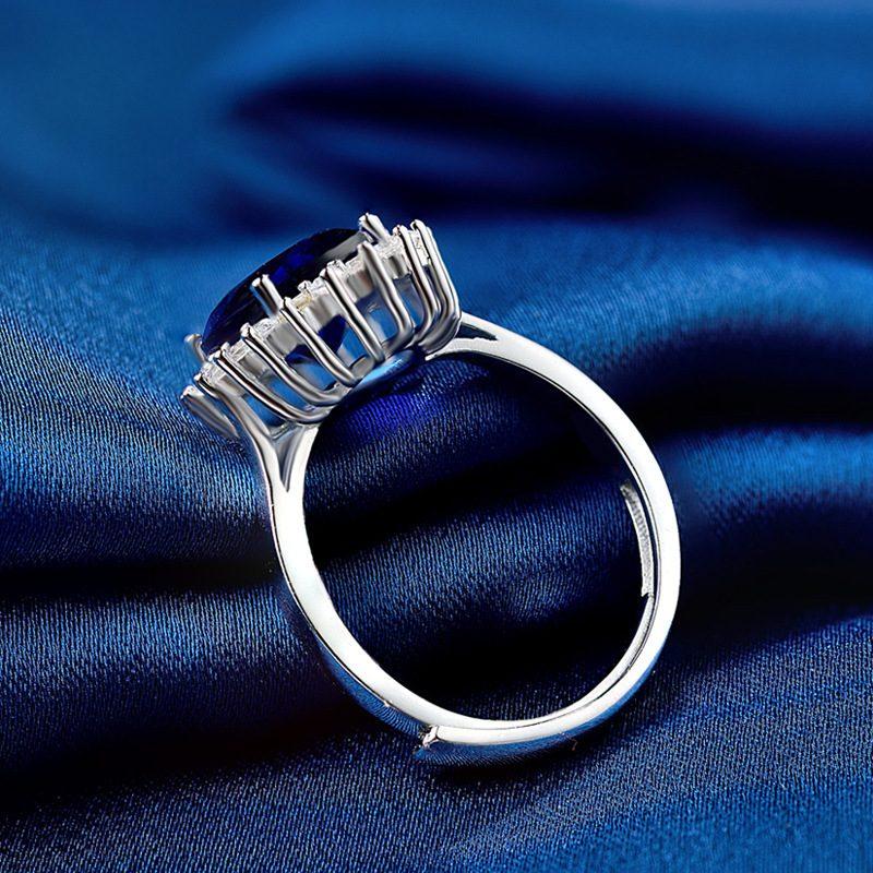 Nhẫn Bạc đính đá Zircon Blue LILI 584849 3