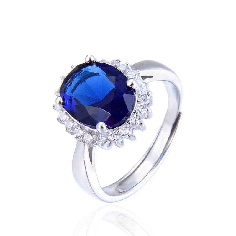 Nhẫn Bạc đính đá Zircon Blue LILI 584849 5