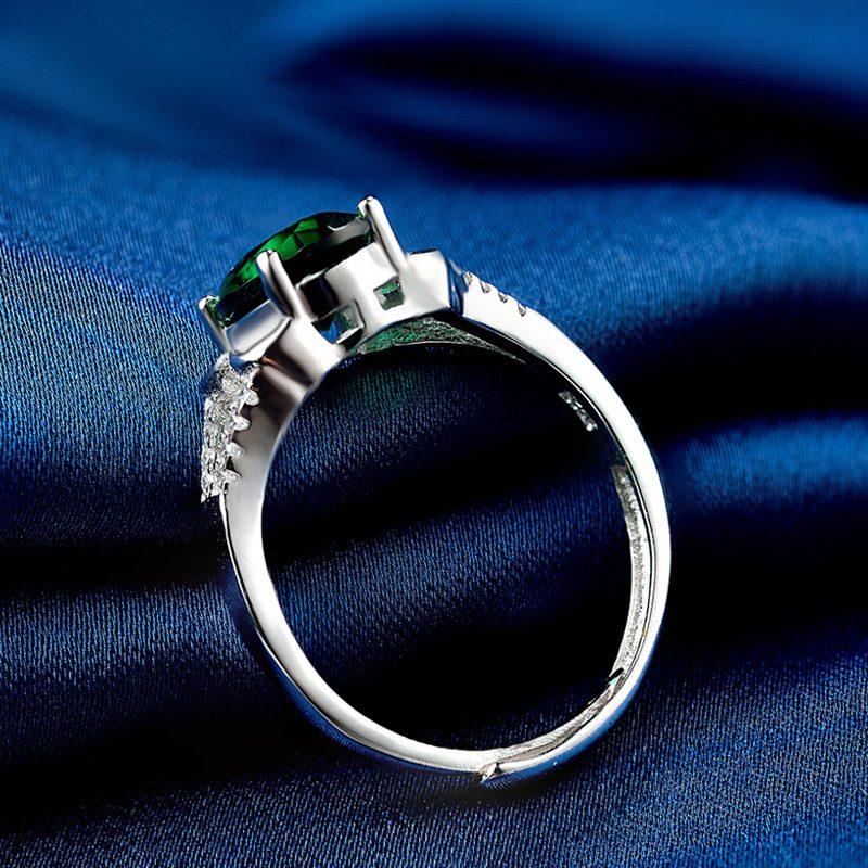 Nhẫn Bạc đính đá Zircon Green LILI 828763 1