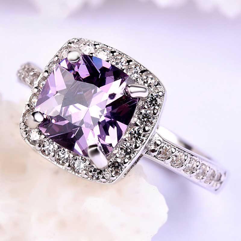 Nhẫn Bạc đính đá Zircon Violet LILI 298252 1