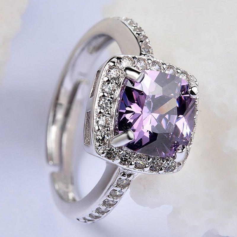 Nhẫn Bạc đính đá Zircon Violet LILI 298252 2