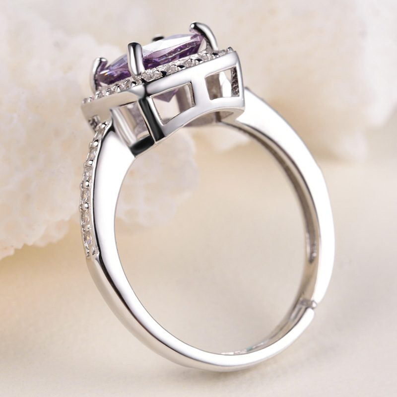 Nhẫn Bạc đính đá Zircon Violet LILI 298252 3