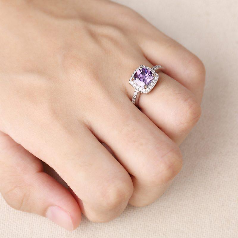 Nhẫn Bạc đính đá Zircon Violet LILI 298252 4