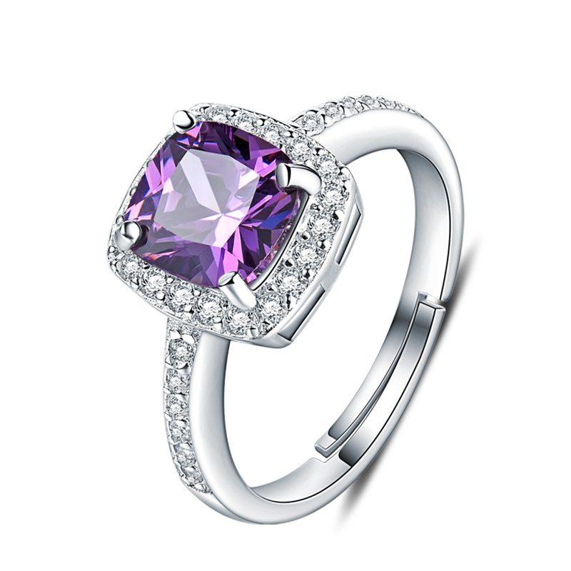 Nhẫn Bạc đính đá Zircon Violet LILI 298252 5