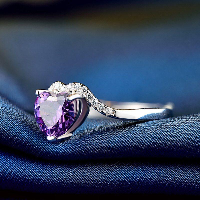 Nhẫn Bạc đính đá Zircon Violet LILI 464824 1