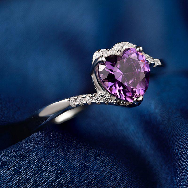 Nhẫn Bạc đính đá Zircon Violet LILI 464824 2