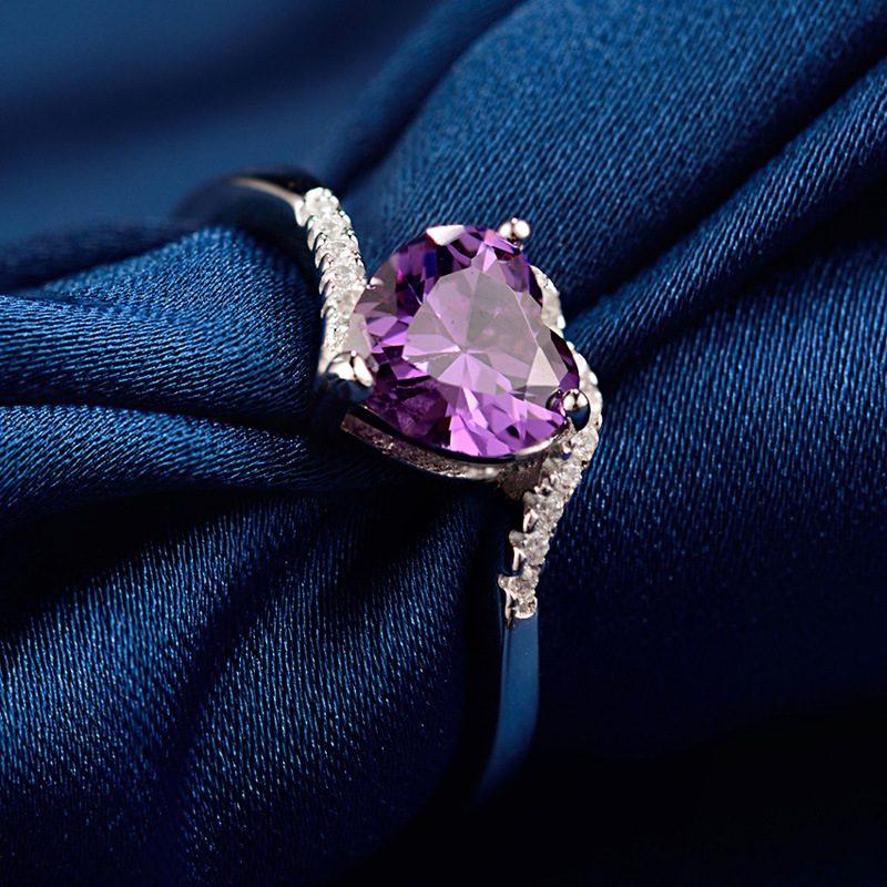 Nhẫn Bạc đính đá Zircon Violet LILI 464824 3