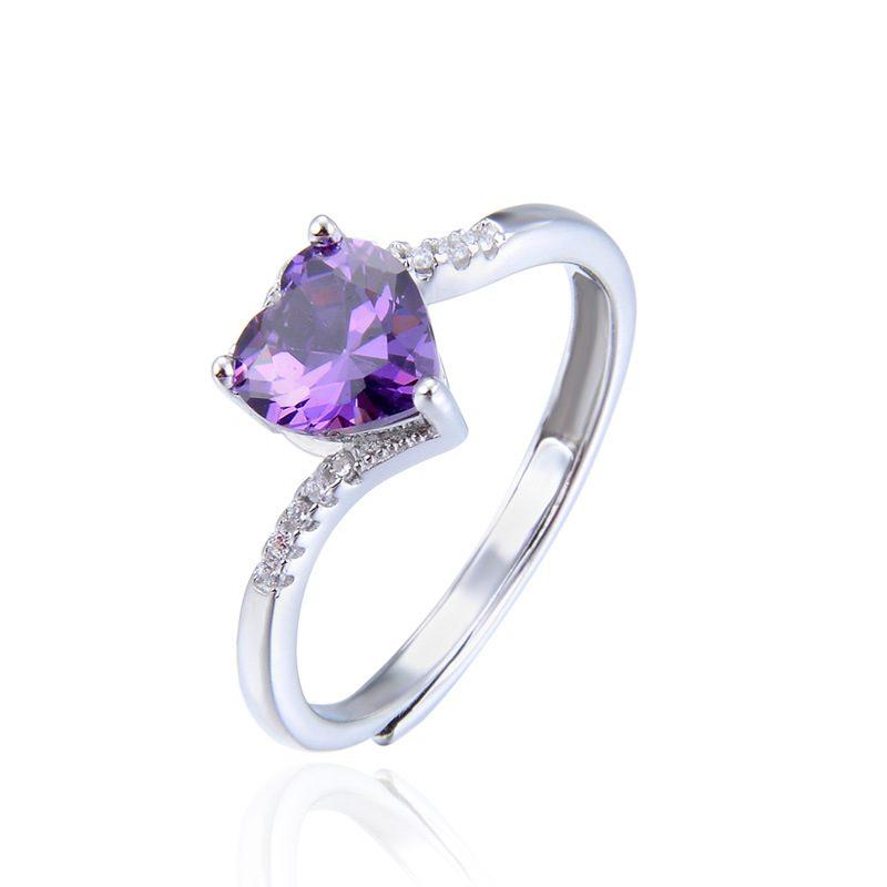 Nhẫn Bạc đính đá Zircon Violet LILI 464824 4
