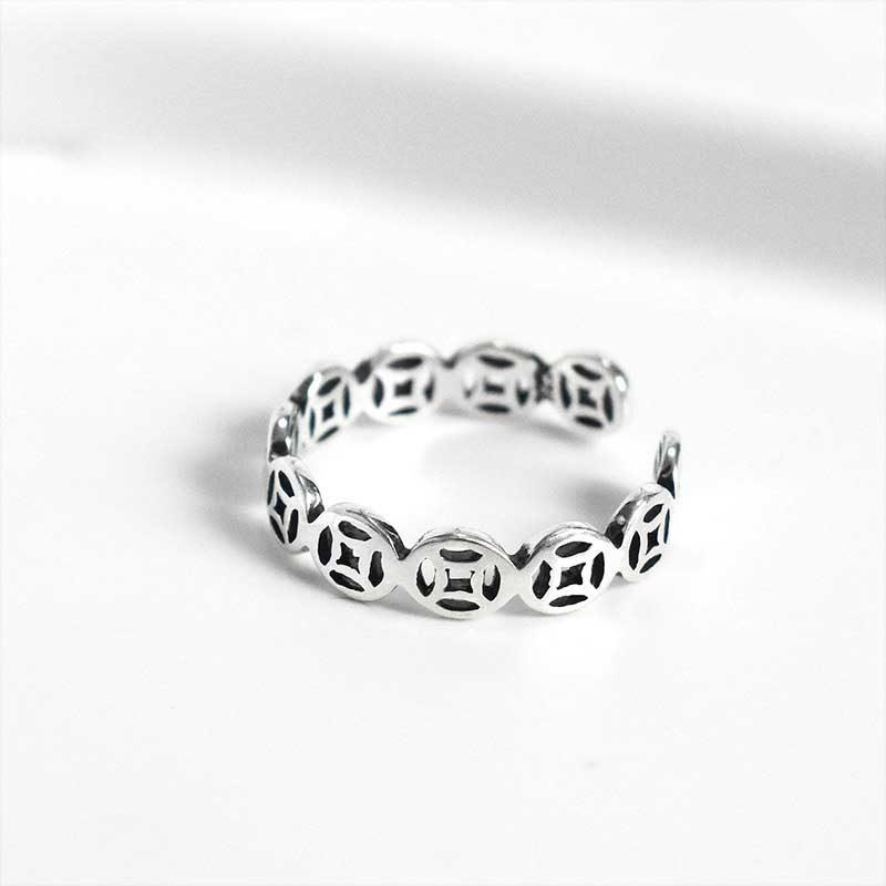 Nhẫn bạc kim tiền LILI_468378_4