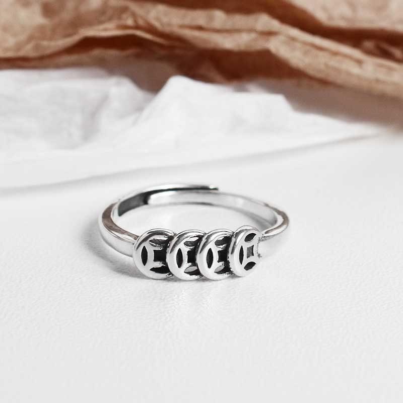 Nhẫn bạc kim tiền LILI_643442_3