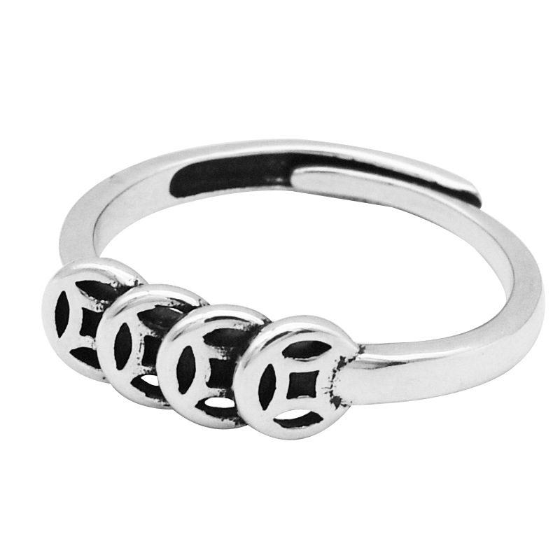 Nhẫn bạc kim tiền LILI_643442_4