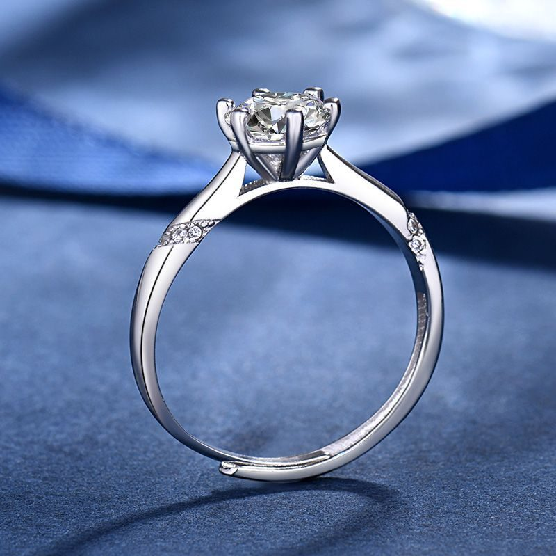 Nhẫn Bạc Mạ Bạch Kim đính đá Zircon LILI 415561 3