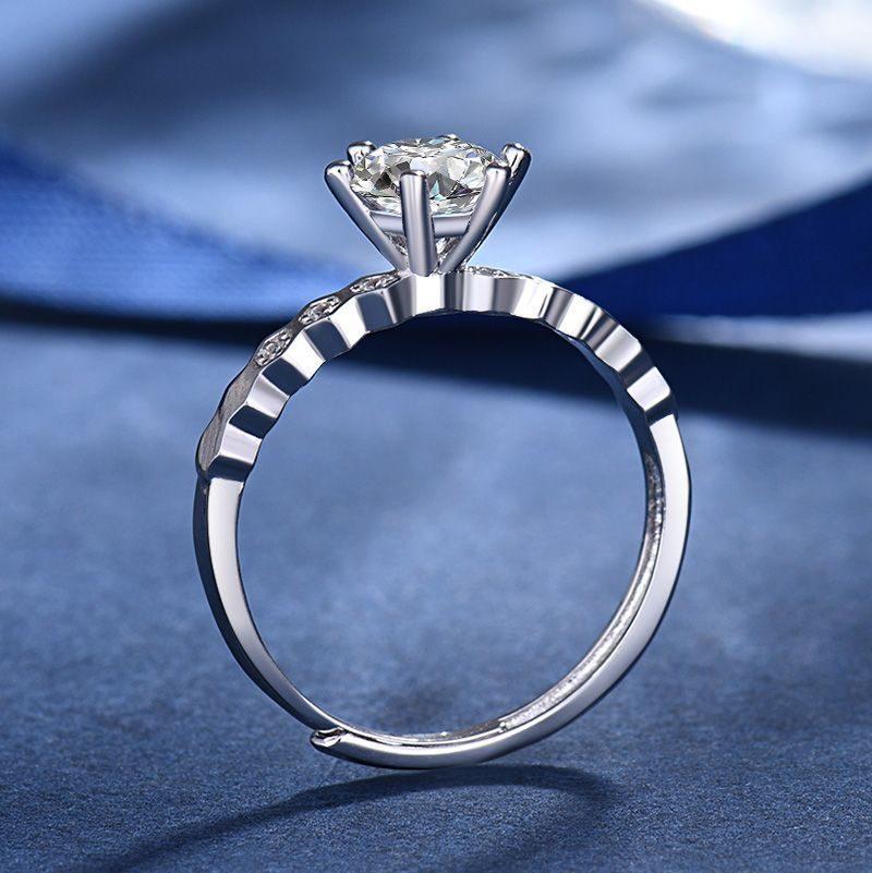 Nhẫn Bạc Mạ Bạch Kim đính đá Zircon LILI 586824 2