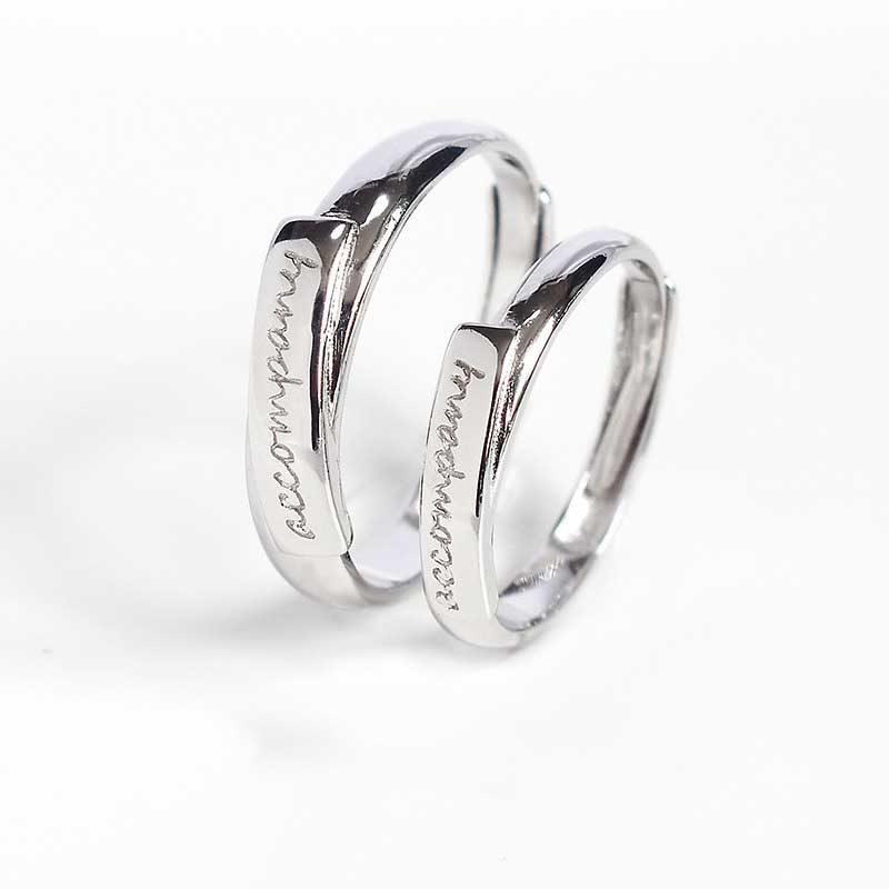 Nhẫn đôi bạc Cool Love khắc tên chữ tùy chỉnh LILI_888464_1