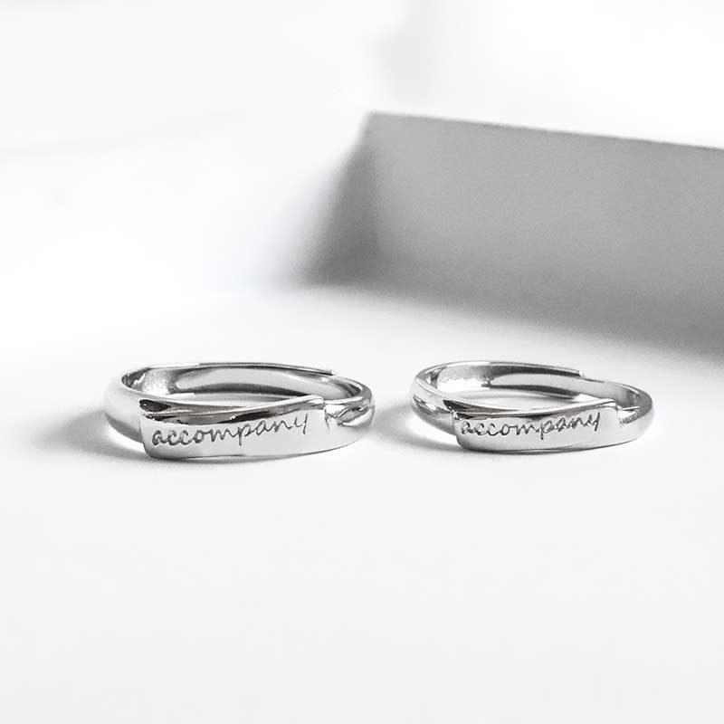 Nhẫn đôi bạc Cool Love khắc tên chữ tùy chỉnh LILI_888464_2