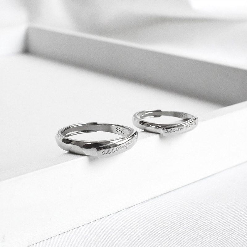 Nhẫn đôi bạc Cool Love khắc tên chữ tùy chỉnh LILI_888464_3