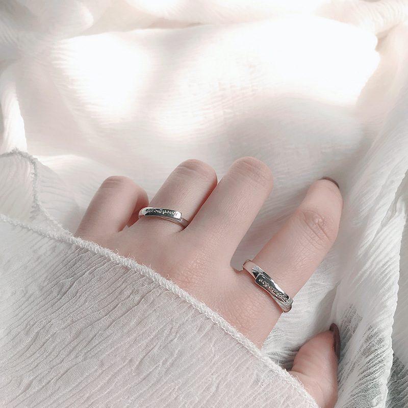 Nhẫn đôi bạc Cool Love khắc tên chữ tùy chỉnh LILI_888464_5